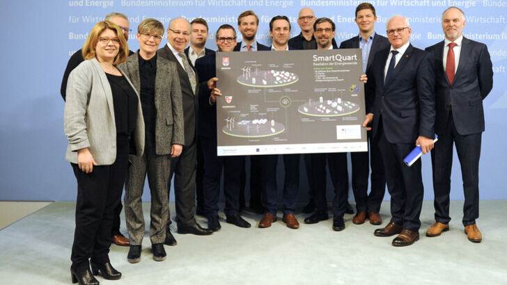 Project partner and members of BMWi